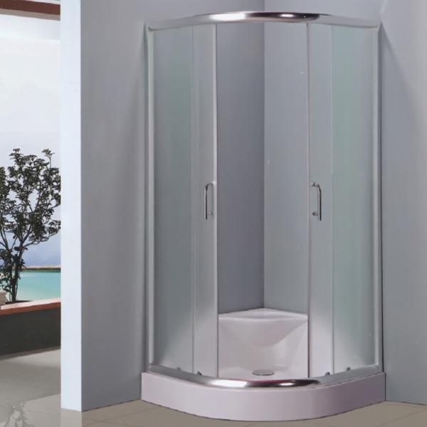 扇形透明钢化玻璃简易房-LX-1009