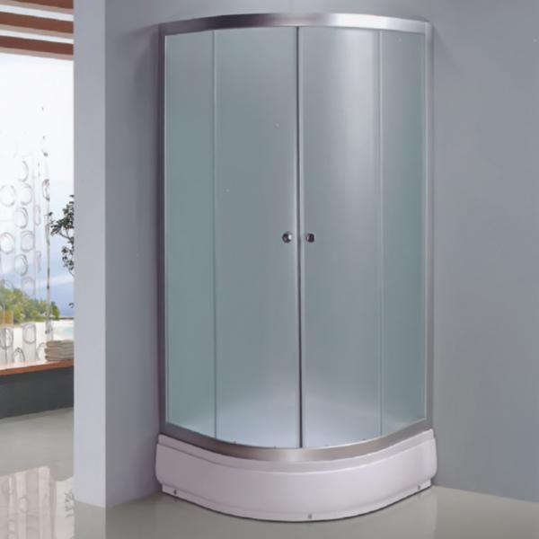 扇形磨砂钢化玻璃简易房-LX-1012