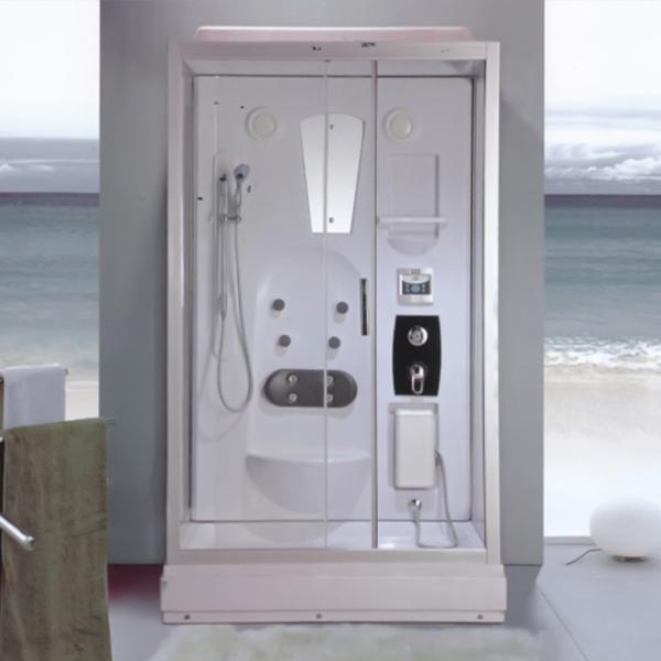 亮银铝合金边框淋浴房-LX-2001