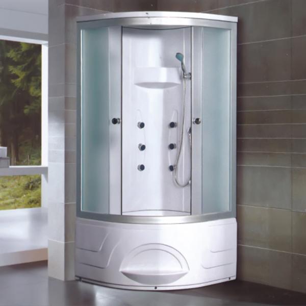 圆形把手布纹玻璃淋浴房-LX-2002