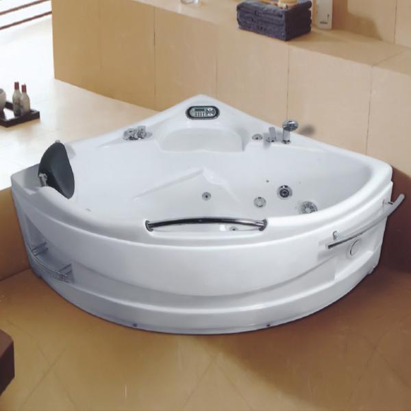 扇形带扶手按摩浴缸-LX-219