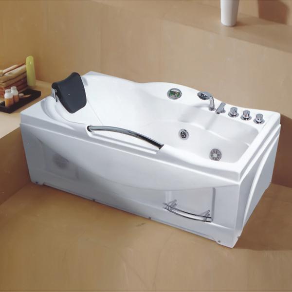 不锈钢扶手按摩浴缸-LX-221