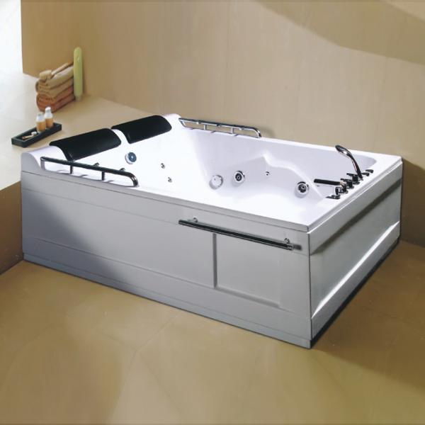 带喷水扶杆的ABS按摩浴缸-LX-227
