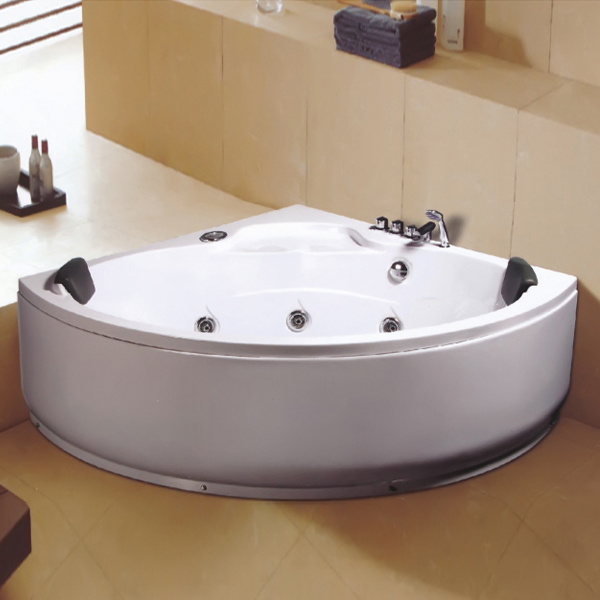 机动下水的白色按摩浴缸-LX-228