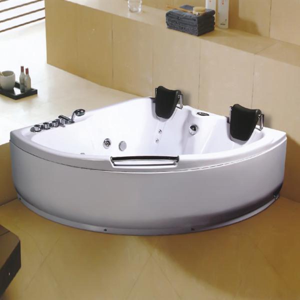 双头枕扇形按摩浴缸-LX-229