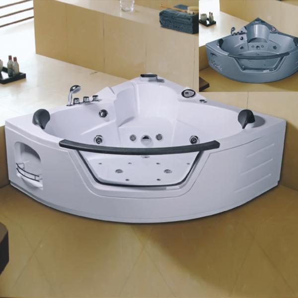 带钢化玻璃的扇形按摩浴缸-LX-231