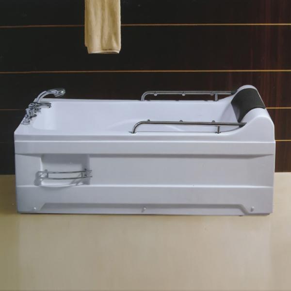 带喷水扶杆的亚克力按摩浴缸-LX-233