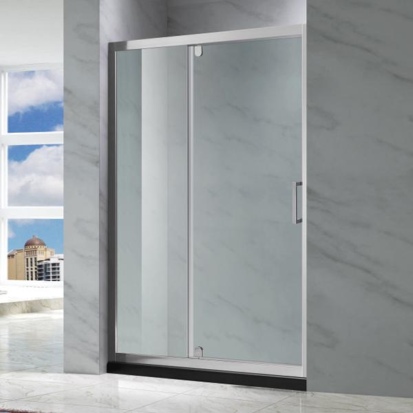 亮银色推拉式淋浴屏风-LX-3111