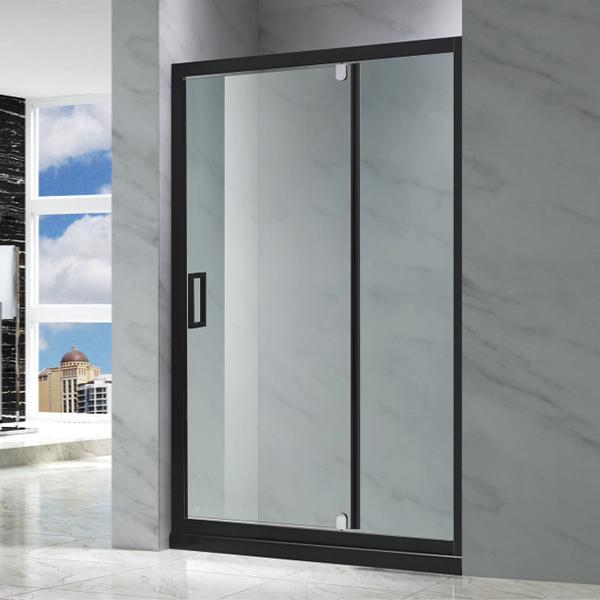 黑色推拉式淋浴屏风-LX-3112