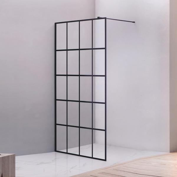 黑色走入式淋浴屏风-LX-3113