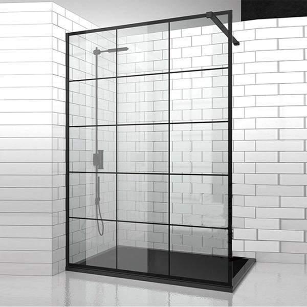 电镀走入式淋浴屏风-LX-3115