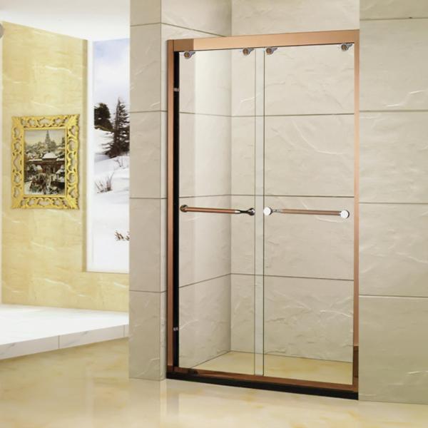 金色滑动淋浴屏风-LX-3116