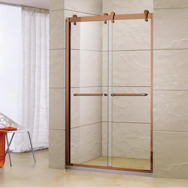 金色铝合金淋浴屏风-LX-3117