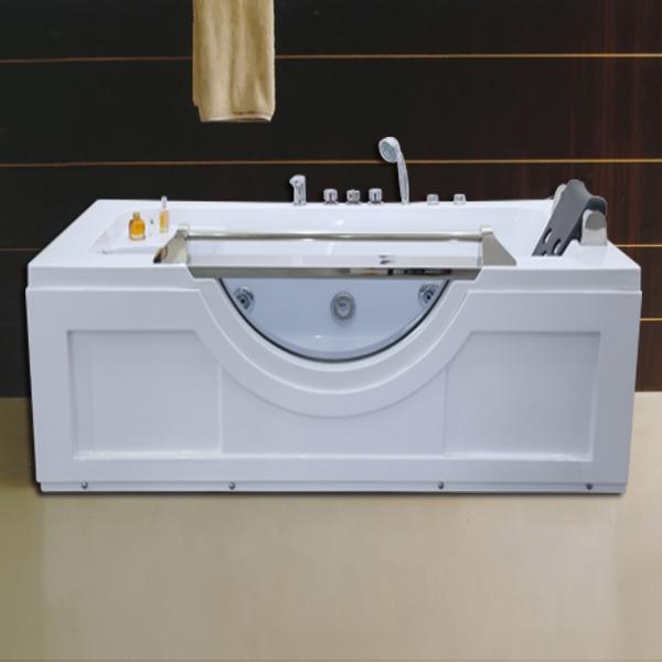 长方形白色按摩浴缸